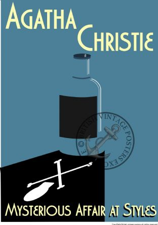 Agatha Christie Poirot The Mysterious Affair at Styles Art Poster